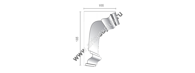 Profiled cornice С-513