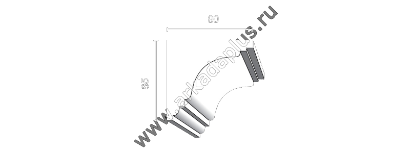 Profiled cornice С-514