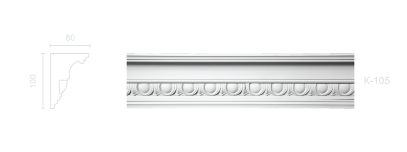 Enriched cornice С-105