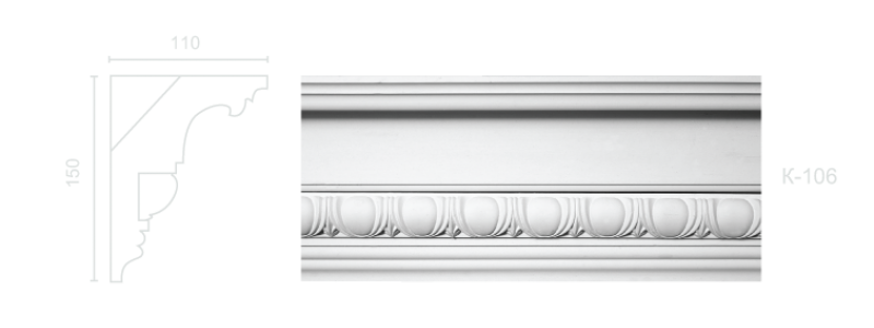 Enriched cornice С-106