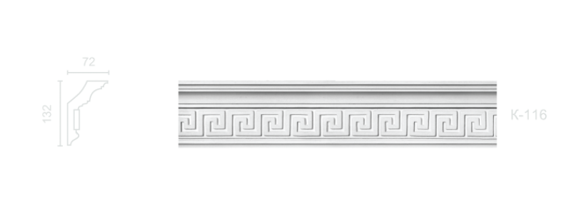 Enriched cornice С-116