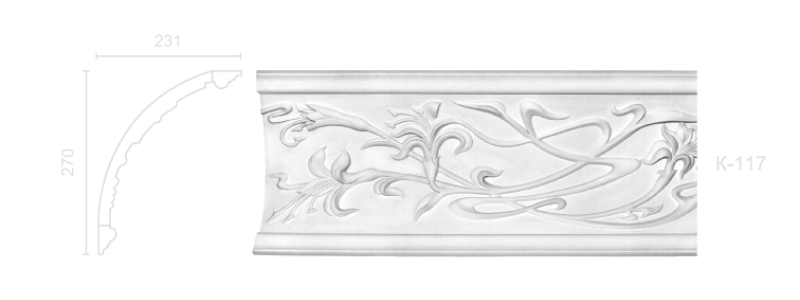 Enriched cornice С-117