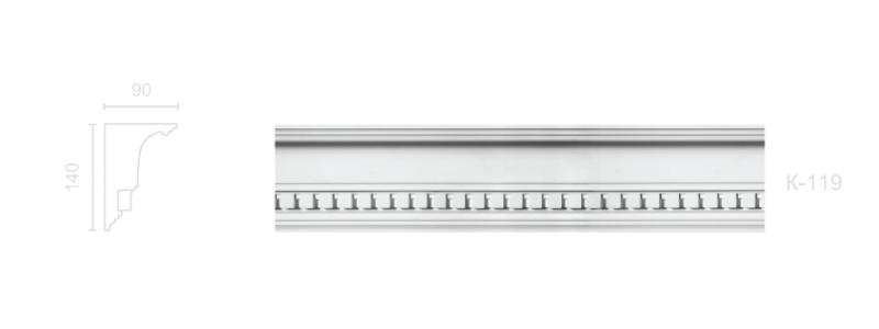 Enriched cornice С-119