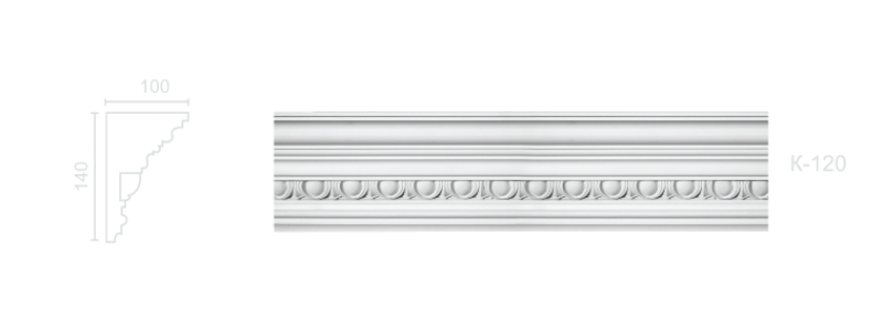 Enriched cornice С-120