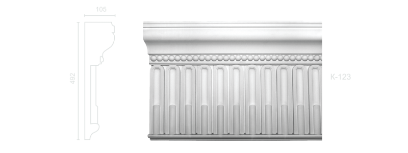 Enriched cornice С-123