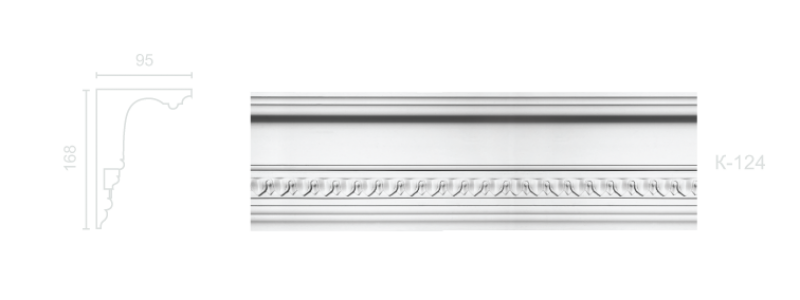Enriched cornice С-124