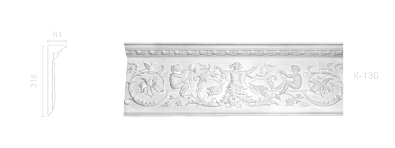 Enriched cornice С-130