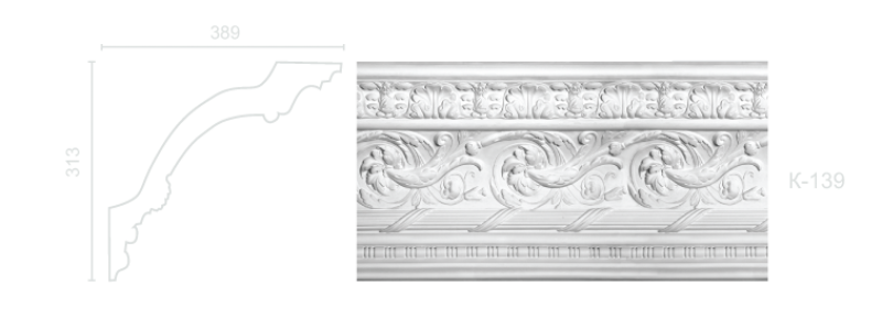 Enriched cornice С-139