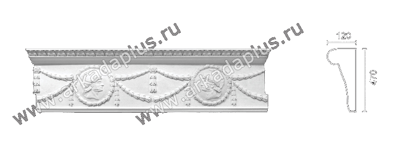 Enriched cornice С-153