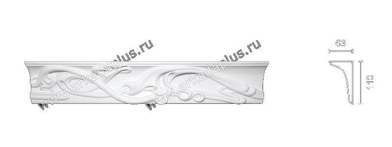 Enriched cornice С-156