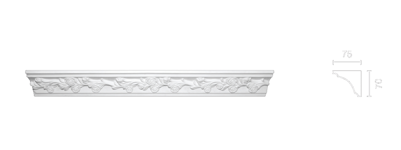 Enriched cornice С-158