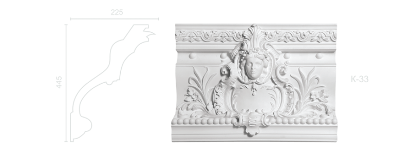 Enriched cornice С-33