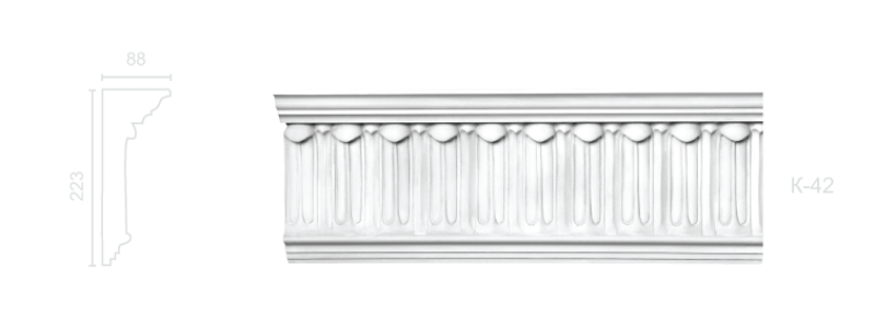 Enriched cornice С-42