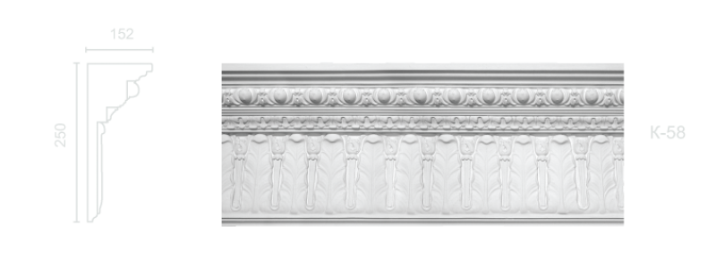 Enriched cornice С-58
