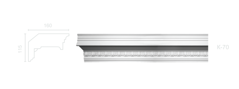 Enriched cornice С-70