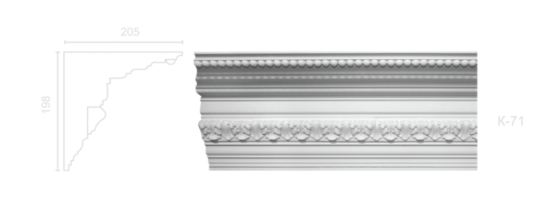 Enriched cornice С-71