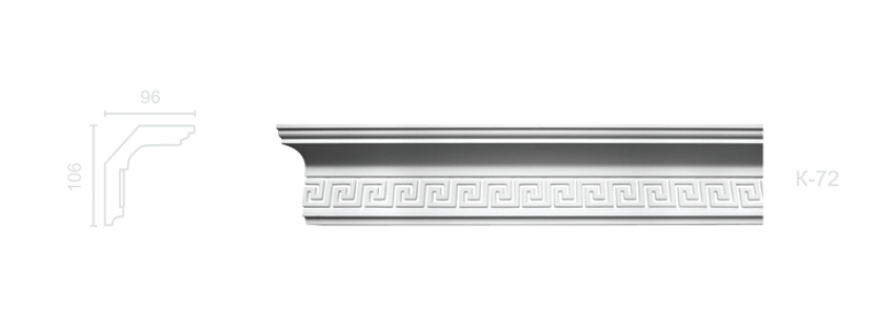 Enriched cornice С-72