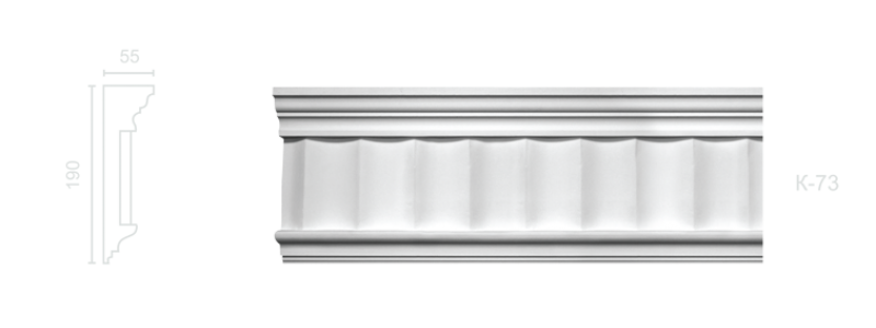 Enriched cornice С-73