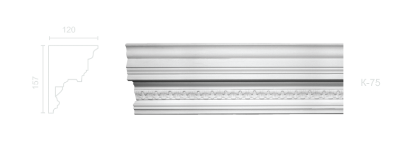 Enriched cornice С-75