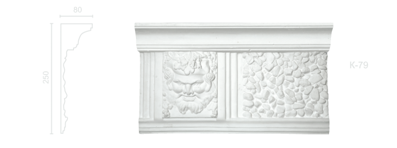 Enriched cornice С-79