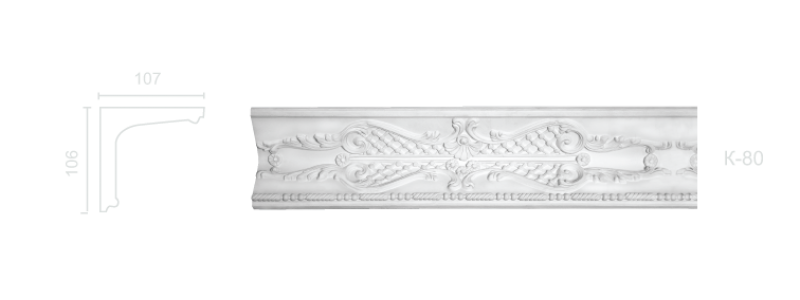 Enriched cornice С-80