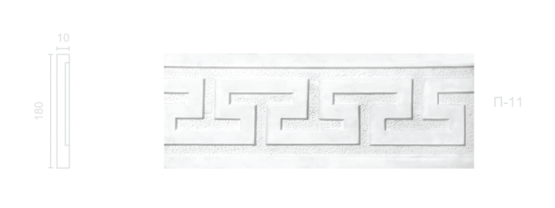 Plaster frieze P-11