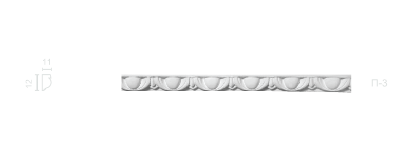 Plaster frieze P-3