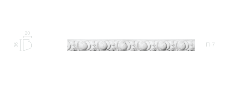 Plaster frieze P-7