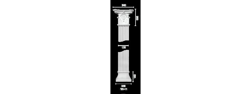 Plaster pilaster PR-11