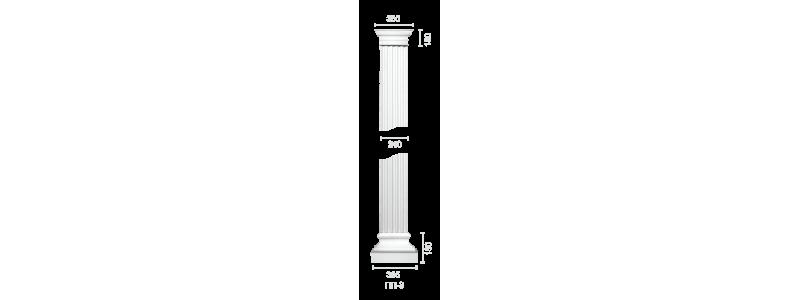 Plaster pilaster PR-3