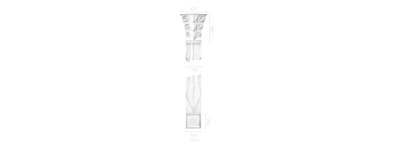 Plaster pilaster PR-4