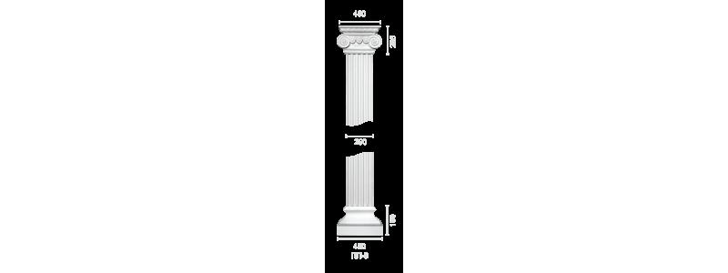 Plaster pilaster PR-6