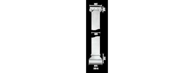 Plaster pilaster PR-8