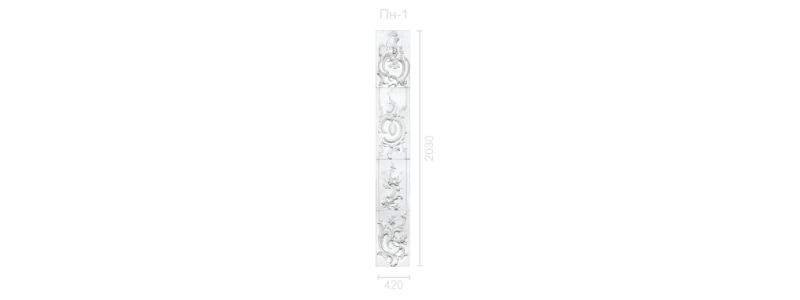 Plaster panel PP-1