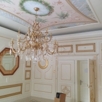 Classical Victorian style interior design with custom plaster moulding