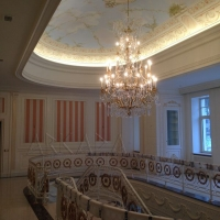 Neo-classical crown molding interior design and ornamentation