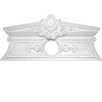 Plaster pediments