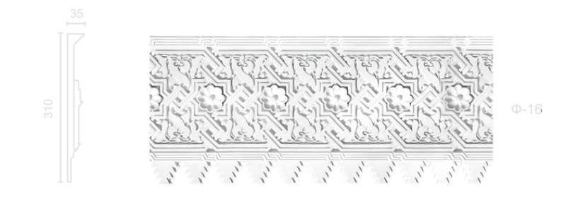 Plaster frieze F-16