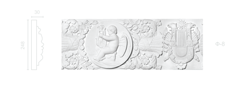 Plaster frieze F-8