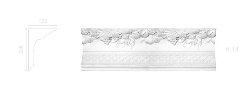 Enriched cornice С-14