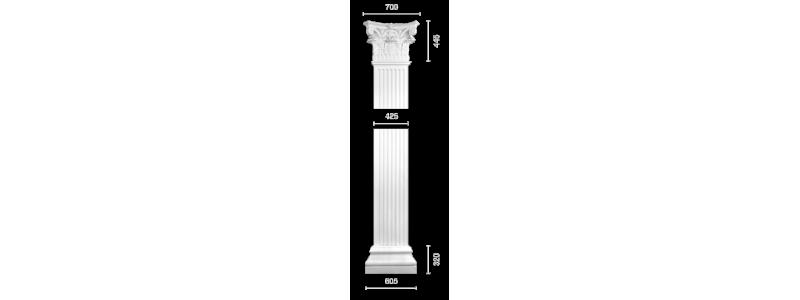 Plaster pilaster PR-17