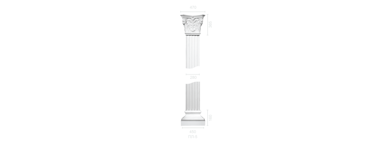 Plaster pilaster PR-5